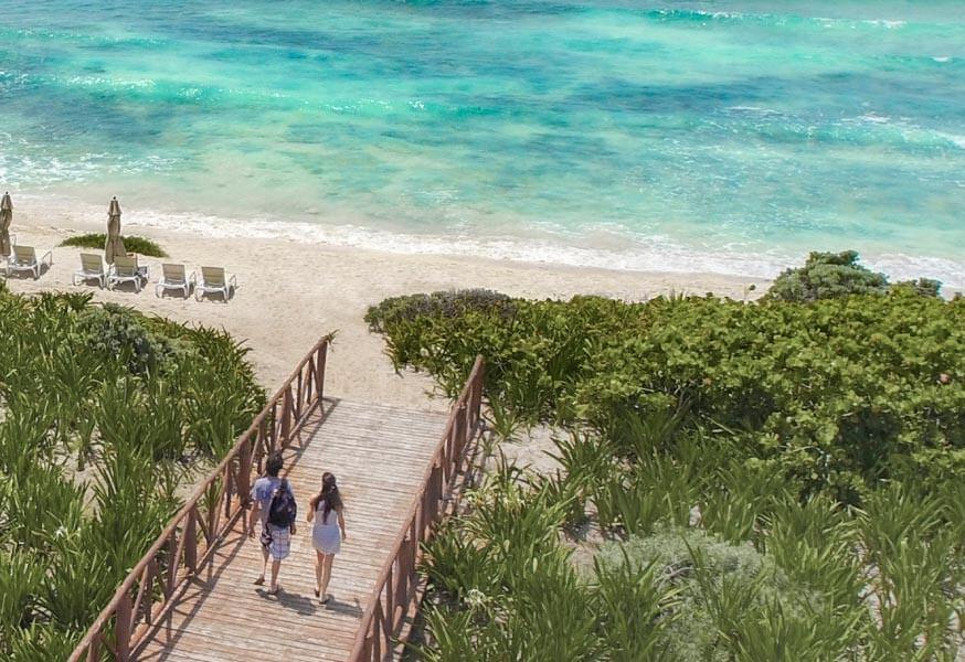 Unico 20º 87º Riviera Maya Hotel Beach Walkway